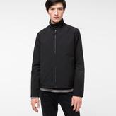 Paul Smith Men's Black Showerproof Cotton-Blend Harrington Jacket