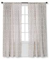 Threshold Flocked Scroll Curtain Panel -Cream/White (54x84) by