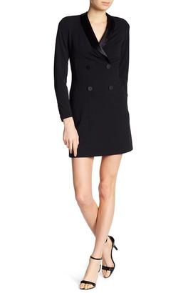 Donna Morgan Long Sleeve Tuxedo Dress