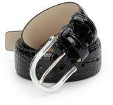 Hickey Freeman Croc-Embossed Leather Belt