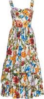 Dolce & Gabbana Floral-Print Cotton Bustier Dress