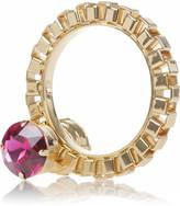 Mawi 18-karat gold-plated Swarovski crystal bangle