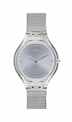Swatch Unisex Adult Analogue Quartz Watch with Stainless Steel Strap SVOK105M