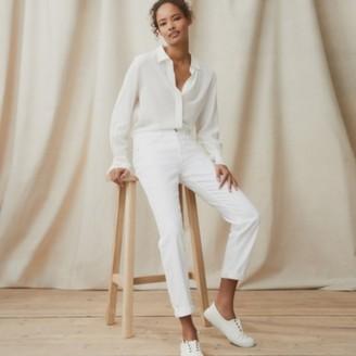 The White Company Organic Brompton Jeans, Ecru, 6
