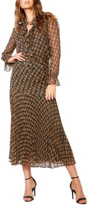 Bardot Dallas Floral Long Sleeve V Neck Dress