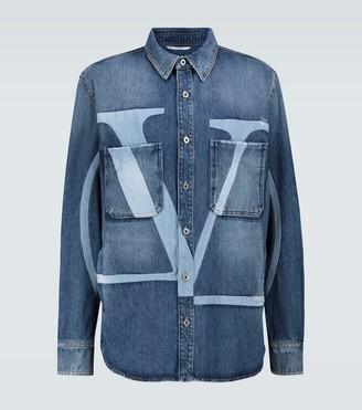 Valentino VLTN denim distressed overshirt
