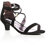 Steve Madden Girls' Ankle Strap Kitten Heel Sandals - Little Kid, Big Kid