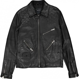 Surface to Air Black Leather Jackets