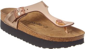 Birkenstock Papillio By Women's Gizeh Platform Leather Sandal
