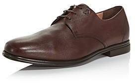 Salvatore Ferragamo Men's Spencer Plain-Toe Leather Oxfords - Wide
