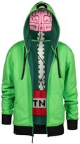 JINX Minecraft Creeper Anatomy Men's Premium Zip-Up Hoodie