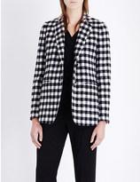 Max Mara Checked wool-blend jacket