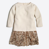 J.Crew Factory Girls' sequin-skirt sweatshirt dress