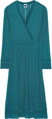 M Missoni Wrap-effect Crochet-knit Wool-blend Dress