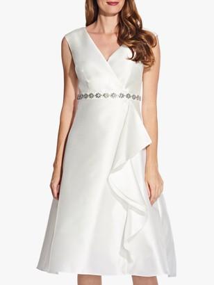 Adrianna Papell Tea Length Mikado Dress, Ivory