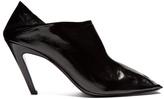 Balenciaga Quadro square-toe foldable-heel leather mules