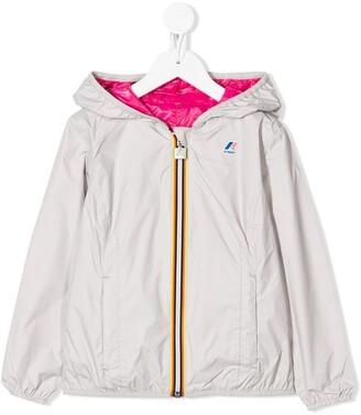 K Way Kids Hooded Windbreaker Jacket