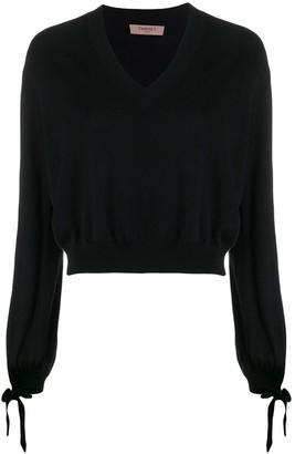 Twin-Set boxy V-neck jumper