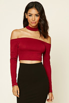 Forever 21 FOREVER 21+ Off-The-Shoulder Choker Top