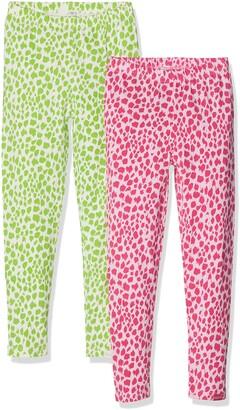 Playshoes Girl's Leggings Leopardenmuster im 2er Pack