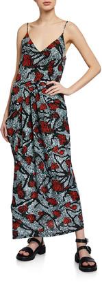 Christian Wijnants Dalia Draped Sleeveless Dress