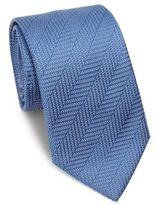 Armani Collezioni Chevron Striped Silk Tie