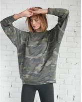 Express one eleven oversized camo sweatshirt