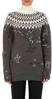 Nina Ricci Women's Fair Isle Turtleneck Sweater-GREY, BEIGE