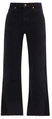 KHAITE Layla High-rise Kick-flare Jeans - Black