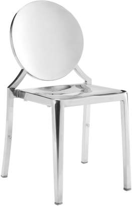 ZUO Modern Eclipse 2-Piece Stainless Steel Dining Chair Set