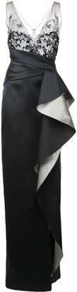 Marchesa Oversized Ruffle Gown