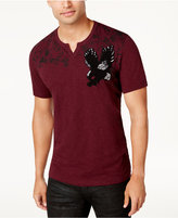 INC International Concepts Men's Split-Neck Eagle T-Shirt, Created for Macy's