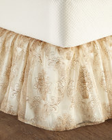 Isabella Collection Catania Queen Embroidered Sheer Dust Skirt