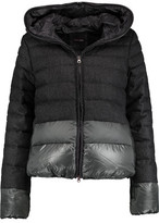 Duvetica Alana Quilted Wool-Blend Hooded Coat