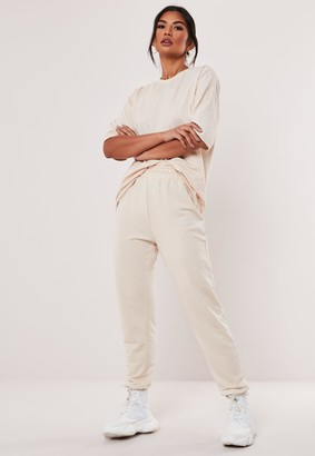 Missguided Tall Stone Jersey T Shirt And Joggers Co Ord Set