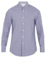 Brunello Cucinelli Single-cuff checked cotton-poplin shirt