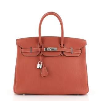 Hermes Birkin 35 Red Leather Handbags