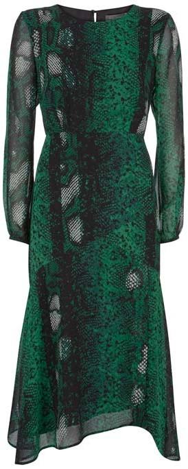 Mint Velvet Petra Snake Print Midi Dress