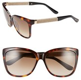 Jimmy Choo Women's 'Coras' 56Mm Retro Sunglasses - Black