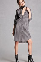 Forever 21 FOREVER 21+ Pinstripe Shirt Dress