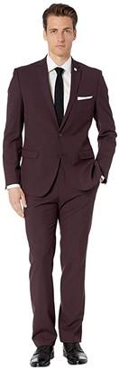 Nick Graham Burgundy Solid Suit (Burgundy) Men's Suits Sets