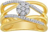 JCPenney FINE JEWELRY diamond blossom 1/4 CT. T.W. Diamond Orbit Cluster Ring