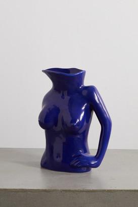 Anissa Kermiche Jugs Jug Ceramic Vase - Blue
