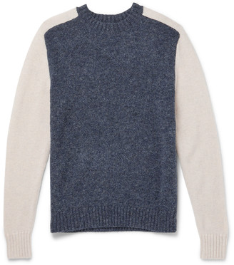 Bellerose Colour-Block Shetland Wool Sweater