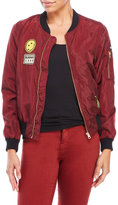 Love Tree Woven Patch Bomber Jacket