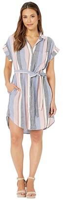 Bella Dahl Cap Sleeve Belted Pocket Dress
