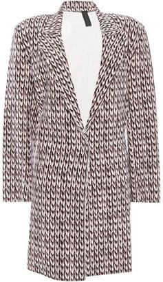 Norma Kamali Printed Scuba Jacket