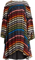 Sonia Rykiel Striped silk-chiffon dress