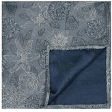 Topman Gray Floral Pocket Square