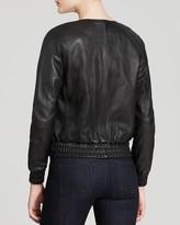 MICHAEL Michael Kors Leather Bomber Jacket